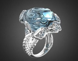 3D print model SIRENA OLA Ring RG0025