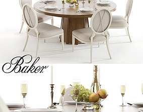 3D Baker Encircle table and X-Back chairs