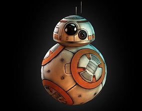 3D model game-ready BB-8 droid