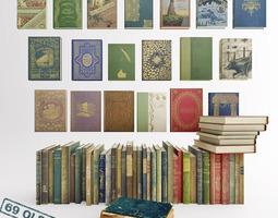 3D model 69 Old Books