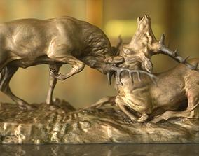 Deer Fight 3D model