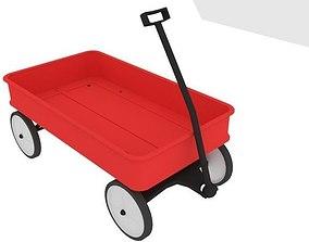 Toy Wagon 3D asset