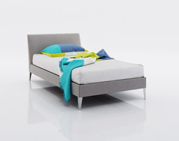 3D Bed linen with cushion for small bed
