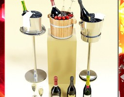 3d champagne ice bucket collection