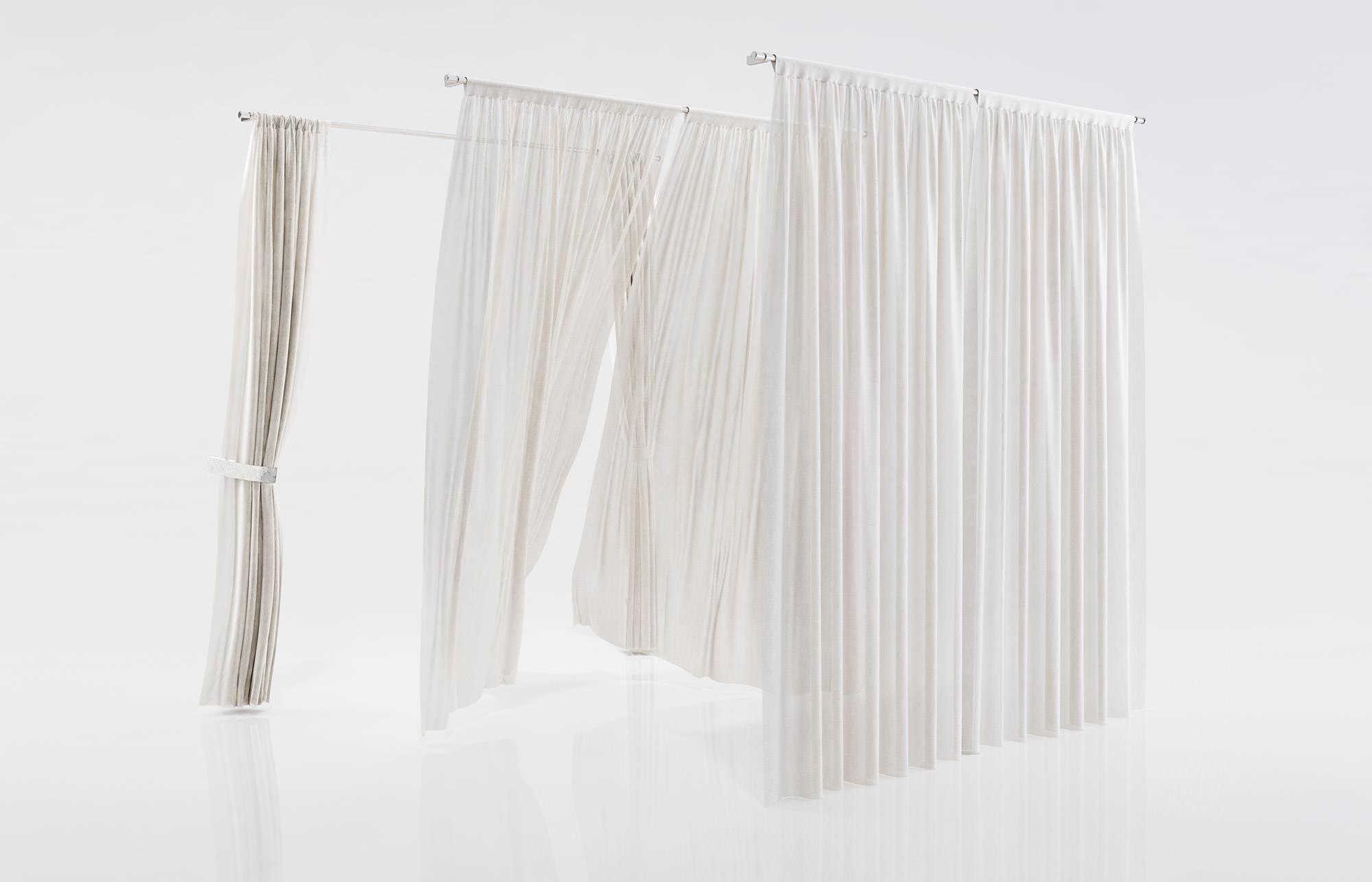 White See Through Window Curtains 3d Model Max Obj Fbx C4d 1
