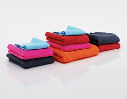 3d bundle of multicolored small and big towels