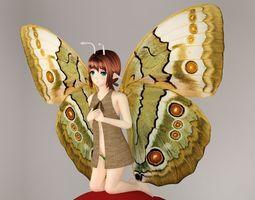 Chouko anime creature pose 01 3D model animated