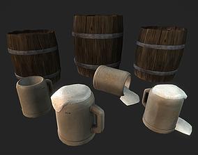 3D asset Beer Set