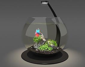 animals 3D Aquarium bowl