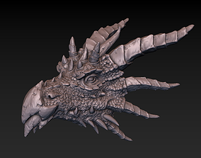 Dragon head 3D print model creature