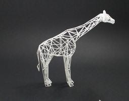 digital safari- giraffe 3d printable model