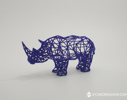 3d printable model digital safari- rhino small