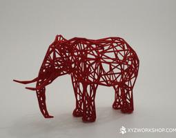 digital safari - elephant small 3d print model