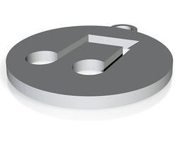iTunes Logo Keychain 3D print model