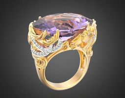 3D printable model CABALLO ring RG0026