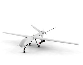 3D model Unmanned aircraft Reaper bomber