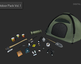 3D model Outdoor Pack Vol 1