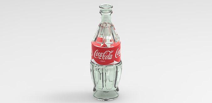 coca-cola bottle 3d model obj mtl 1
