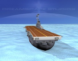 ticonderoga class carrier cv-32 uss leyte 3d animated