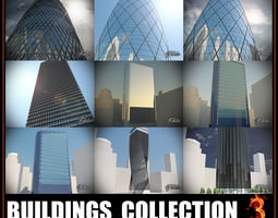 Buildings collection 3 3D asset