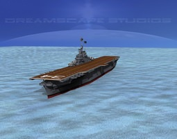 3d animated ticonderoga class carrier cv-34 uss oriskany