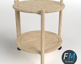 Wooden Circular Side Table 3D