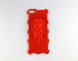 Lion Head Iphone Case 3D print model