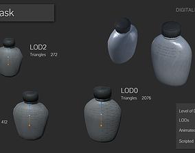 3D model Survival Flask