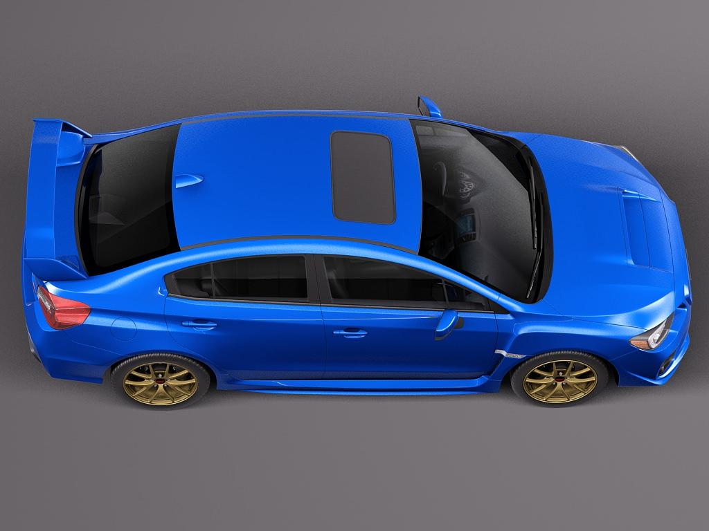 Subaru Impreza WRX STI 2015 3D Model MAX OBJ 3DS FBX C4D LWO LW LWS ...