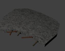 Destroyed Concrete 3D asset