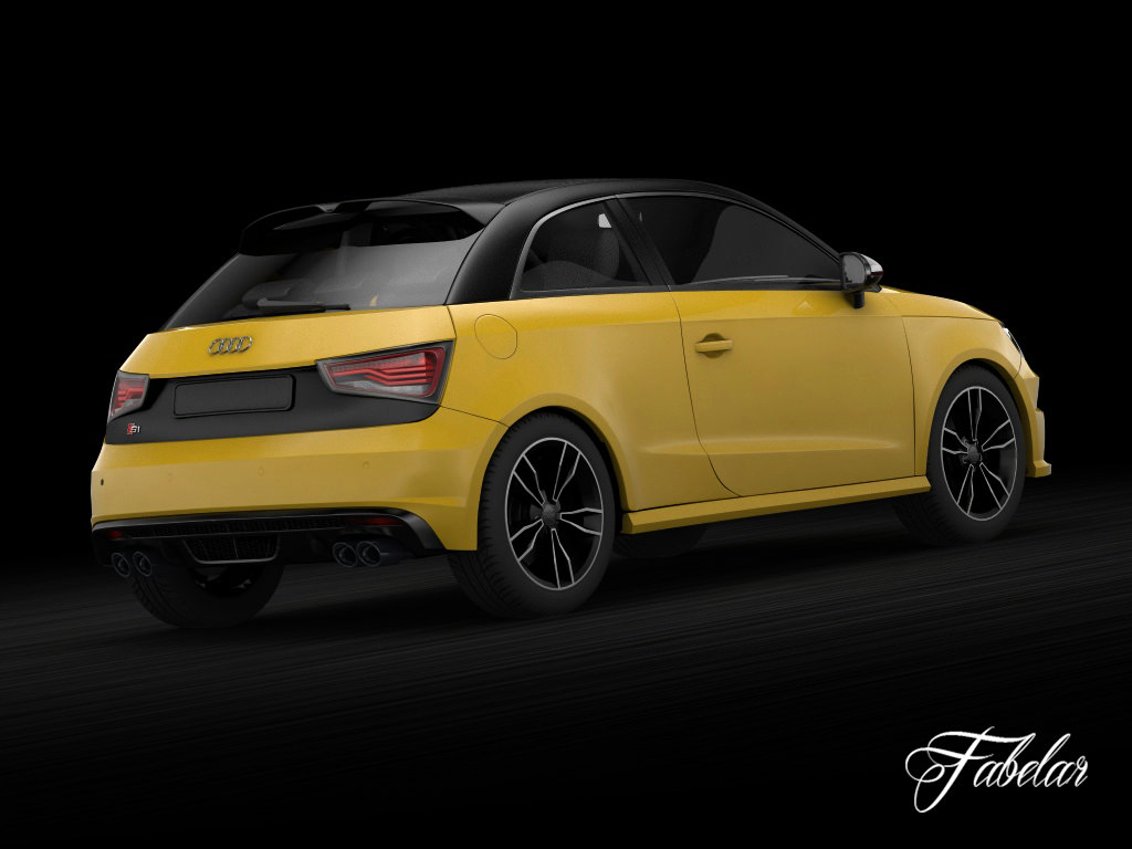 audi s1 sportback vray 3d model rigged max. Black Bedroom Furniture Sets. Home Design Ideas