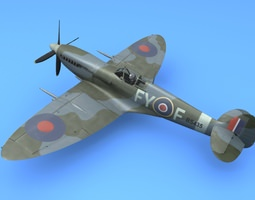 3D model RAF Supermarine Spitfire Mk IX Battle of Britain