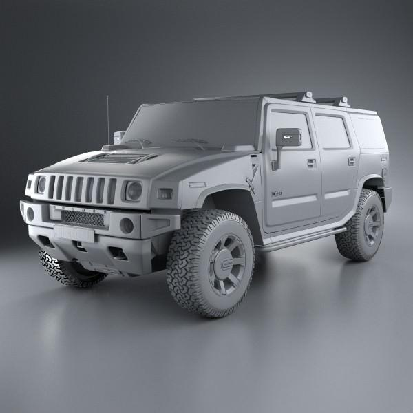 Hummer H2 2009 | 3D model