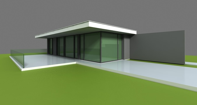 Modern home 3d 3d model max obj 3ds Home 3d model