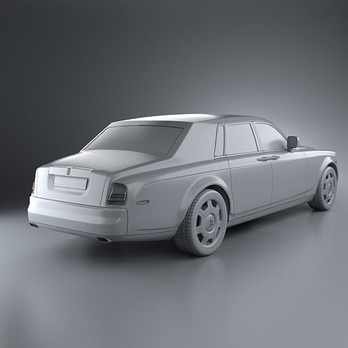 rolls-royce phantom 2011 3d model max obj 3ds fbx c4d lwo lw lws 7