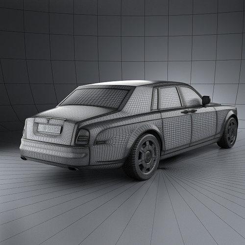 rolls-royce phantom 2011 3d model max obj 3ds fbx c4d lwo lw lws 12