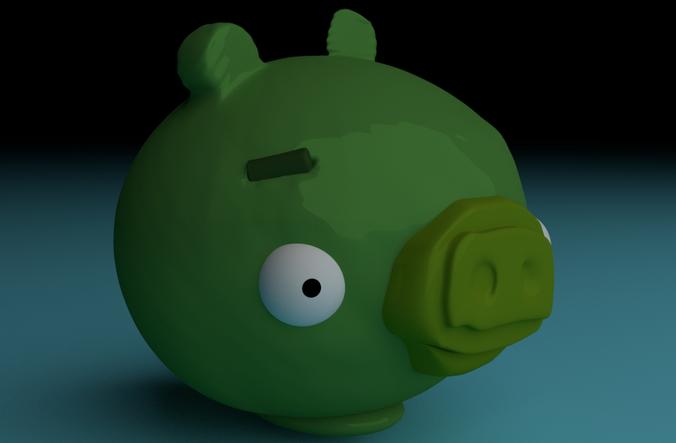 Bad Piggies 3d Printable Piggy Bank 3d Model 3d