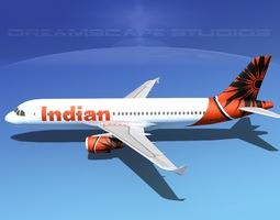 3D asset Airbus A320 LP Air India