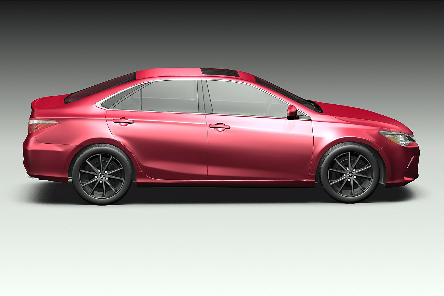 2015 Toyota Camry 3D Model MAX OBJ 3DS FBX C4D LWO LW LWS