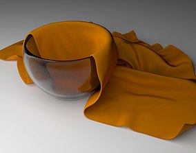 3D print model Glass Bowl With Cleaning Towel