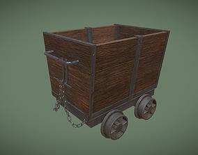 3D model Old Mine Cart Asset