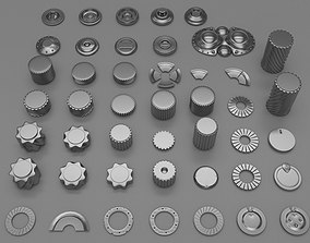 45 gears and machine parts 3D