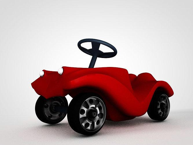 bobby car 3d model obj 3ds c4d 1