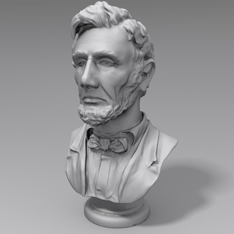3D Printable - Abraham Lincoln Bust