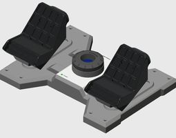 3D print model Saitek Rudder Pedals to Cessna Conversion