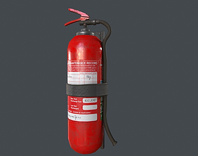 3D model low-poly PBR Fire Extinguisher