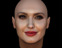 Angelina Jolie Face Model With Makeup 3D