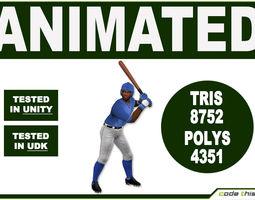 Black Baseball Batter 8752 tris 3D Model