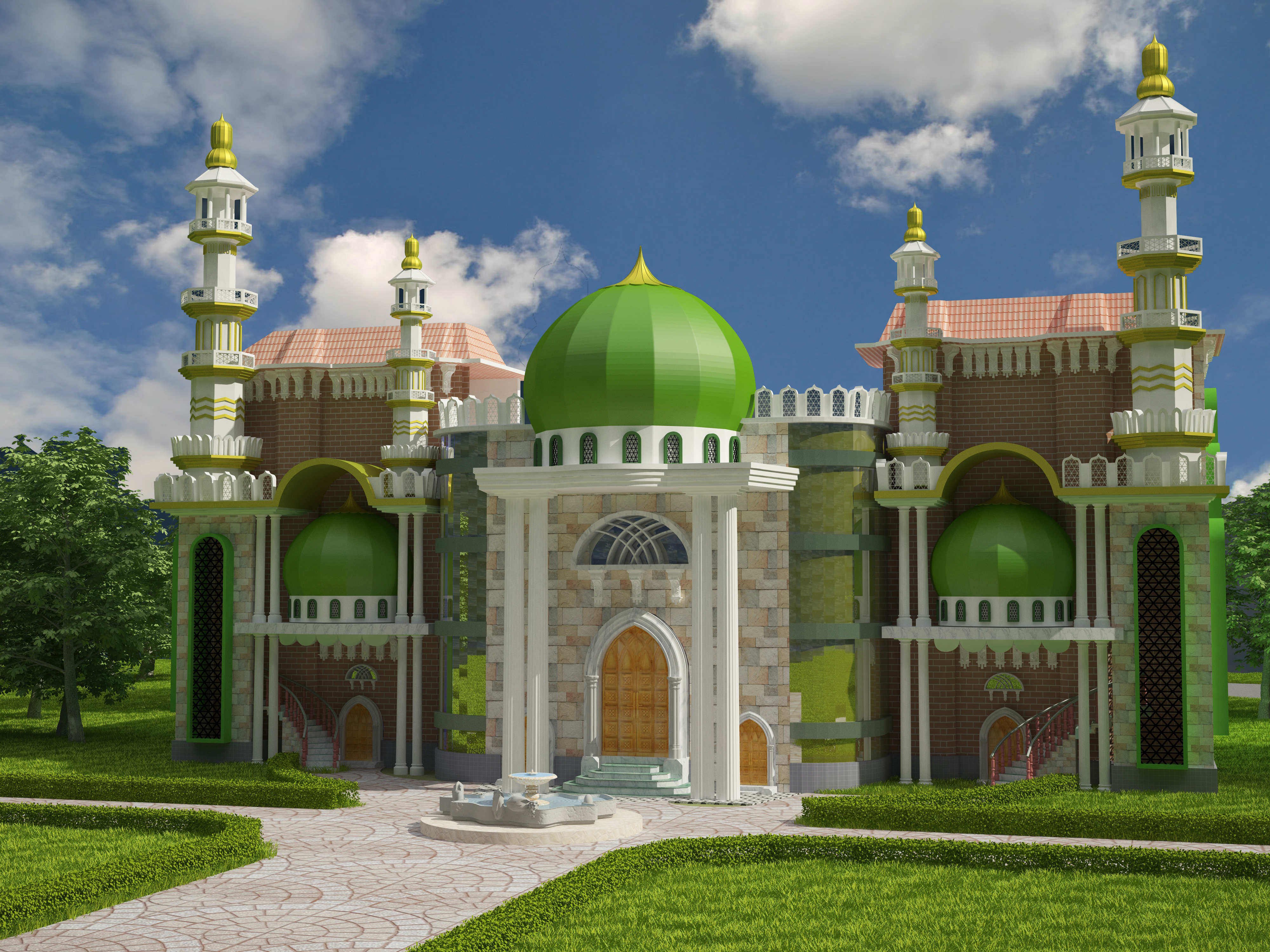 Mosque Minar 3d Model Free Download
