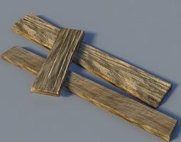 Wooden boards 3D model